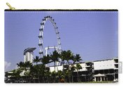 Oil Painting - Preparation Of Formula One Race With Singapore Flyer And Marina Bay Sands Carry-all Pouch