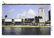 Oil Painting - View Of The Preparation For The Formula One Race In Singapore Carry-all Pouch