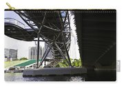 Oil Painting - View Under The Bayfront Bridge And Helix Bridge In Singapore Carry-all Pouch