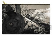 Old Black Locomotive Engine Details Carry-all Pouch