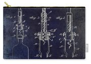 1898  Corkscrew Patent Drawing Carry-all Pouch