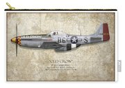 Old Crow P-51 Mustang - Map Background Carry-all Pouch