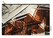 Old Film Strip And Photos Background Carry-all Pouch by Michal Bednarek