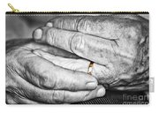 Old Hands With Wedding Band Carry-all Pouch