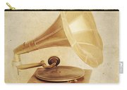 Old Vintage Gold Gramophone Photo. Classical Sound Carry-all Pouch