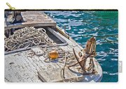 Old Wooden Fishing Boat Detail Carry-all Pouch