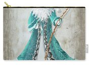 Old World Style Turquoise Aqua Teal Santa Claus Christmas Art By Megan Duncanson Carry-all Pouch