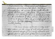 Olive Branch Petition, 1775 Carry-all Pouch