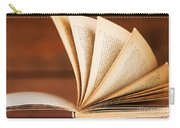 Open Book In Retro Style Carry-all Pouch by Michal Bednarek
