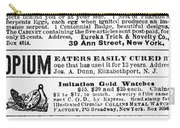 Opium Habit Cure, 1876 Carry-all Pouch