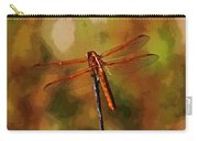 Orange Dragonfly Carry-all Pouch
