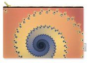 Orange Fractal Carry-all Pouch
