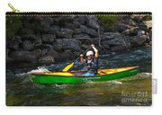 Paddler In A Whitewater Canoe Carry-all Pouch