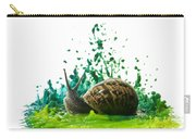 Paint Sculpture And Snail  Carry-all Pouch