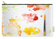 Paint Splatters And Paint Brush Carry-all Pouch