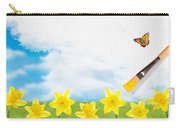 Painting Daffodils Carry-all Pouch