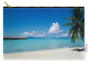 Palm Tree On The Beach, Moana Beach Carry-all Pouch