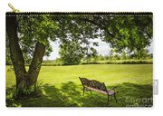 Park Bench Under Tree Carry-all Pouch by Elena Elisseeva