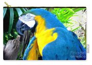 Blue Yellow Macaw. Parrot. Photo Of Bird Carry-all Pouch