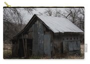 Patchwork Barn With Icicles Carry-all Pouch