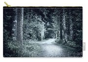 Path In Dark Forest Carry-all Pouch by Elena Elisseeva