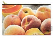 Peaches On Plate Carry-all Pouch by Elena Elisseeva