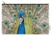Peacock Full Plumage Carry-all Pouch