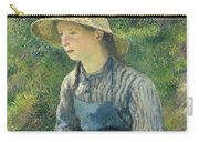 Peasant Girl With A Straw Hat Carry-all Pouch