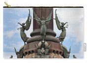 Pedestal Of Columbus Monument In Barcelona Carry-all Pouch