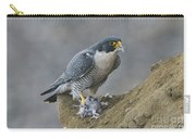 Peregrine Eating Pigeon Carry-all Pouch