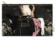 Person On A Vintage Vacation Carry-all Pouch