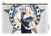 Pin-up Sailor Girl On Boat. Holiday Abroad Carry-all Pouch
