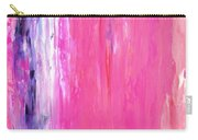 Girl Time - Pink And Purple Abstract Art Painting Carry-all Pouch