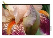 Pink And Purple Iris Carry-all Pouch