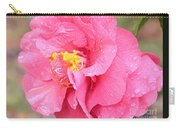 Pink Camellia Closeup With Light Carry-all Pouch