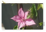 Pink  Clematis   # Carry-all Pouch
