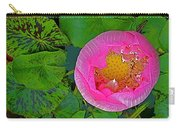 Pink Lotus In Backyard Of Home In Bangkok-thailand. Carry-all Pouch