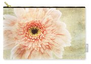 1 Pink Painterly Gerber Daisy Carry-all Pouch
