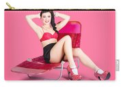 Pink Pin-up Model On Summer Vacation Carry-all Pouch