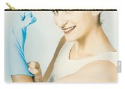 Pinup Housewife Flexing Muscles. Cleaning Strength Carry-all Pouch