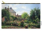 Pissarro's The Artist's Garden At Eragny Carry-all Pouch by Cora Wandel