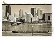 Pittsburgh In Sepia Carry-all Pouch