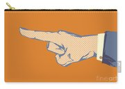Pointing Finger Vector Carry-all Pouch