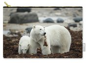 Polar Bear And Cub By Hudson Bay Carry-all Pouch