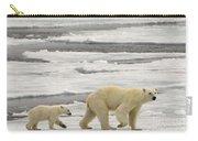 Polar Bear With Cub Carry-all Pouch