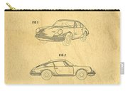 Porsche 911 Carrera 1964 Patent Art  Carry-all Pouch