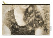 Portrait Of A Vintage Lady Carry-all Pouch