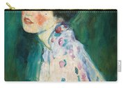 Portrait Of A Young Woman Carry-all Pouch by Gustav Klimt