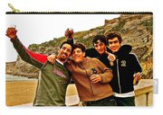Portuguese Teens Wish A Happy New Year In Nazarre-portugal  Carry-all Pouch