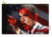 President Barack Obama Carry-all Pouch by Marvin Blaine